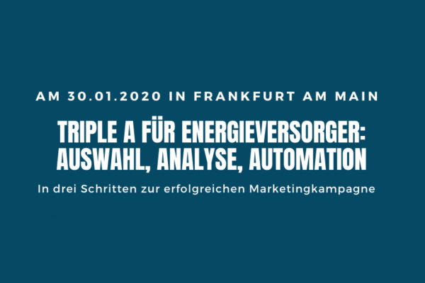 Event Frankfurt - Marketing Automation für Energieversorger